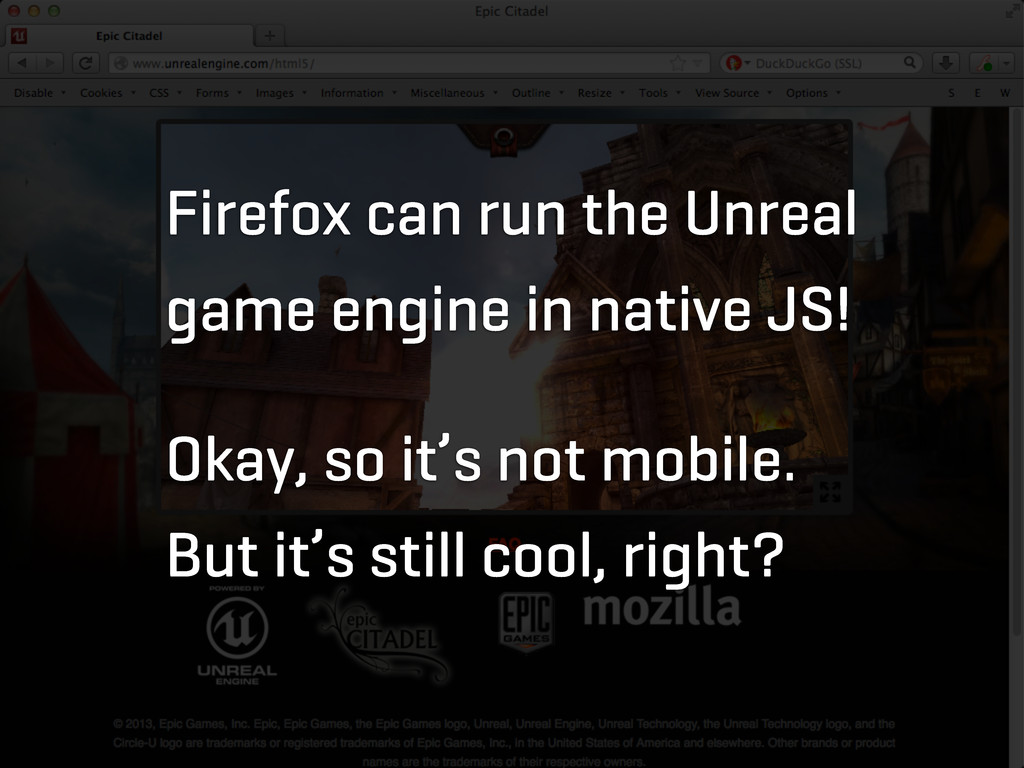 Firefox can run the Unreal game engine in nativ...