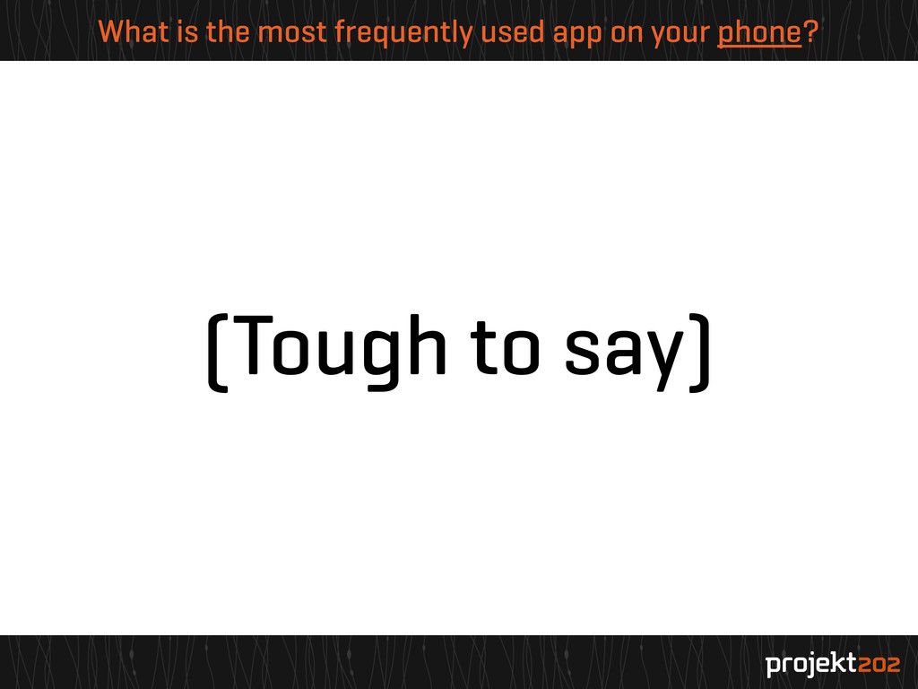 What is the most frequently used app on your ph...