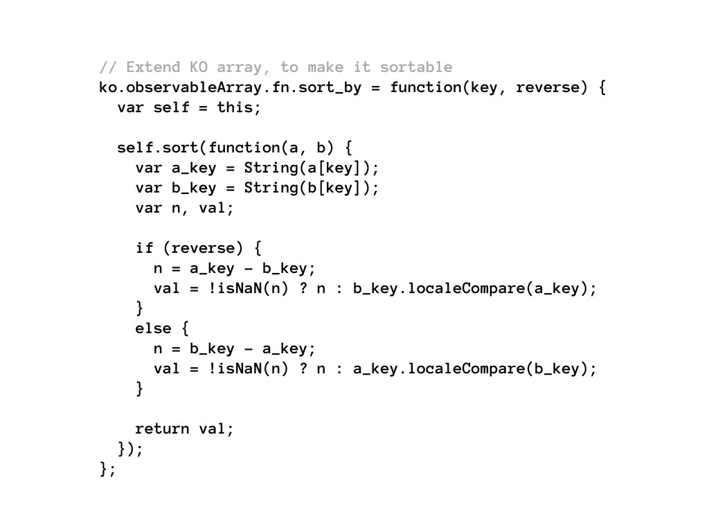 // Extend KO array, to make it sortable ko.obse...