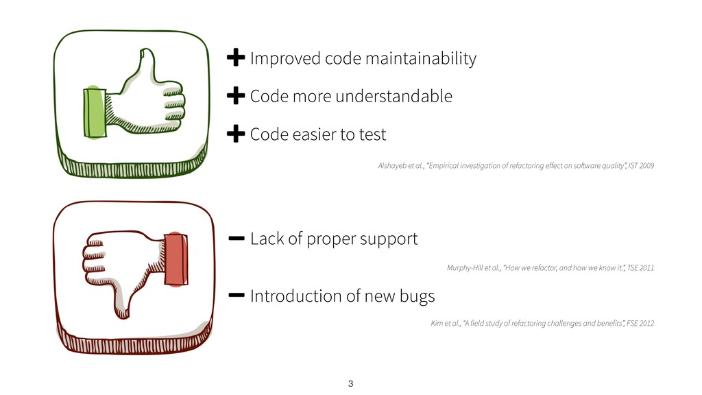 3 Improved code maintainability Code more under...