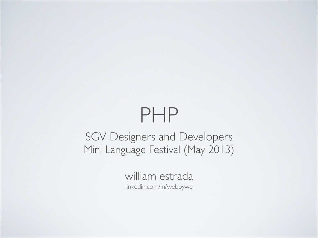 PHP SGV Designers and Developers Mini Language ...