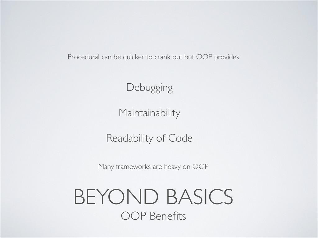 BEYOND BASICS Debugging Maintainability Readabi...