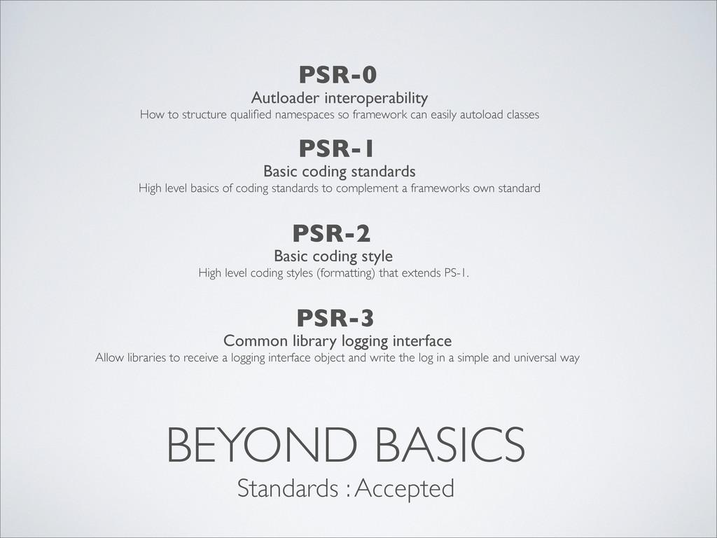 BEYOND BASICS PSR-0 Standards : Accepted Autloa...