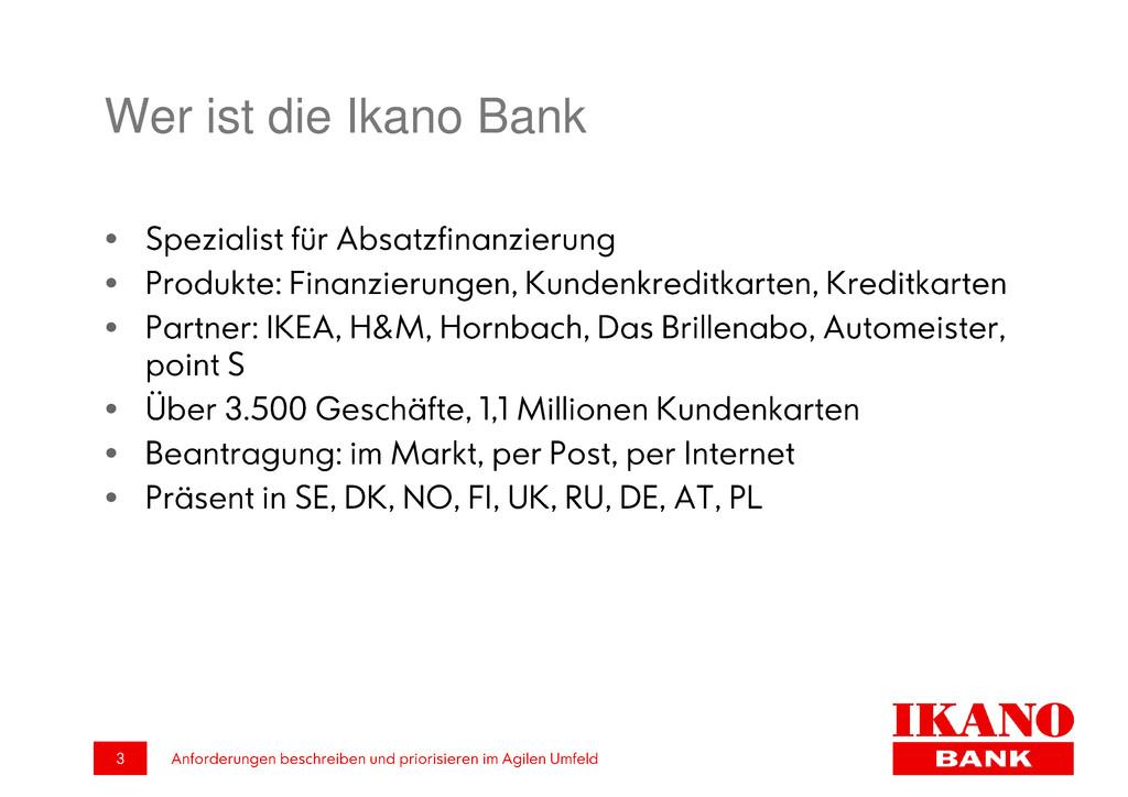 Wer ist die Ikano Bank