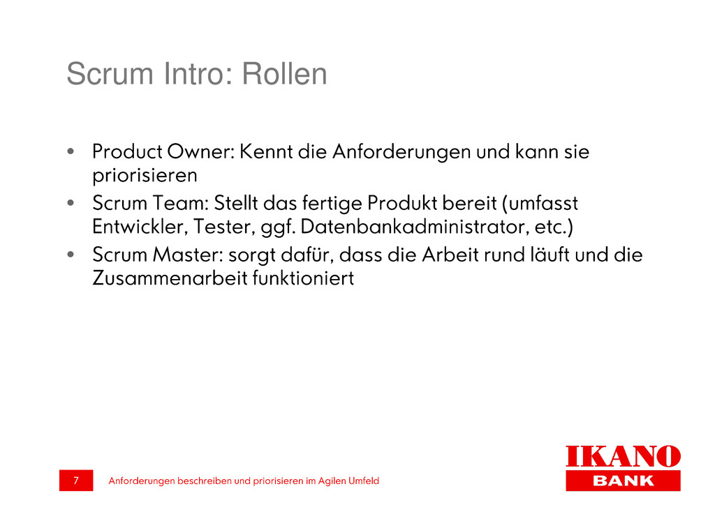 Scrum Intro: Rollen