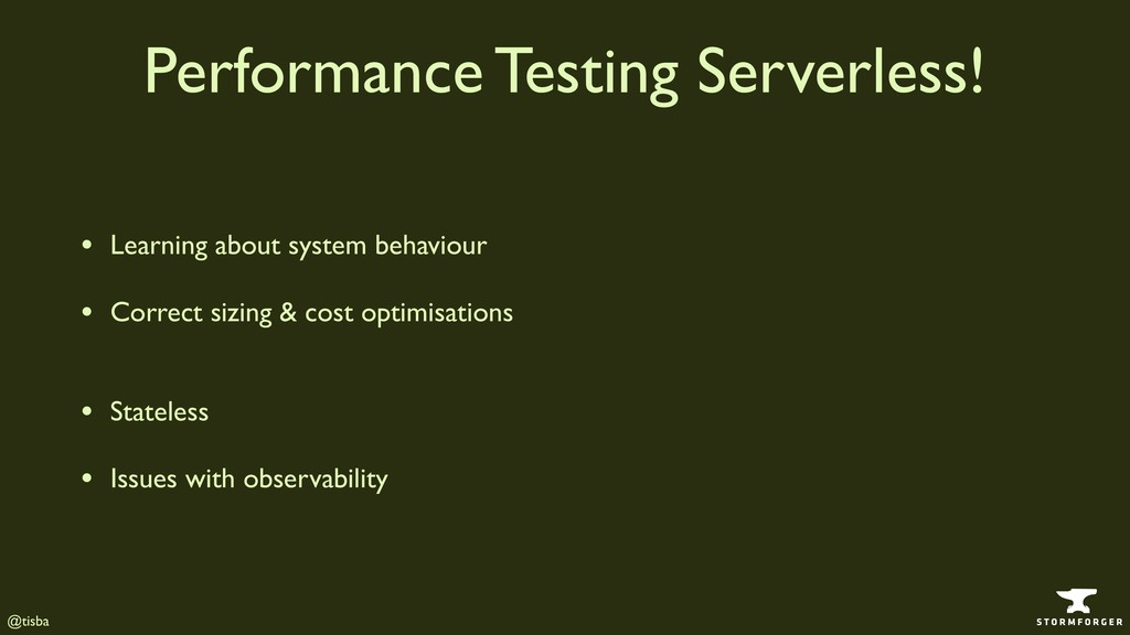 @tisba Performance Testing Serverless! • Learni...
