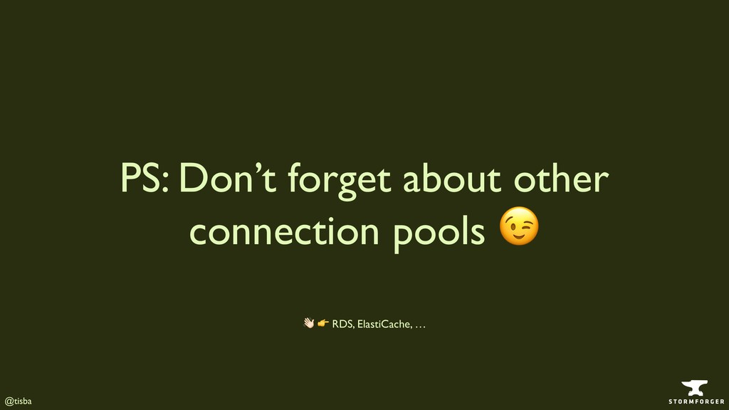 @tisba PS: Don't forget about other connection ...