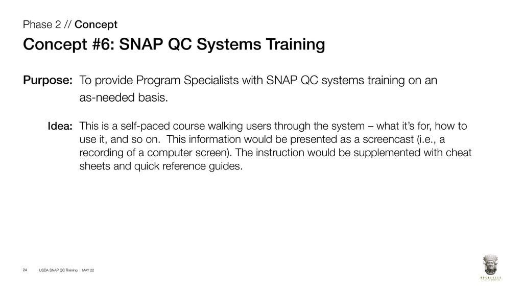 USDA SNAP QC Training | MAY 22 24 Phase 2 // Co...