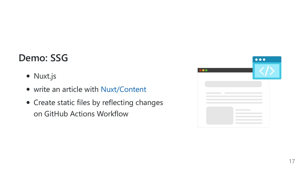 Demo: SSG Nuxt.js write an article with Nuxt/Co...