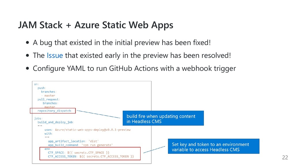 JAM Stack + Azure Static Web Apps A bug that ex...