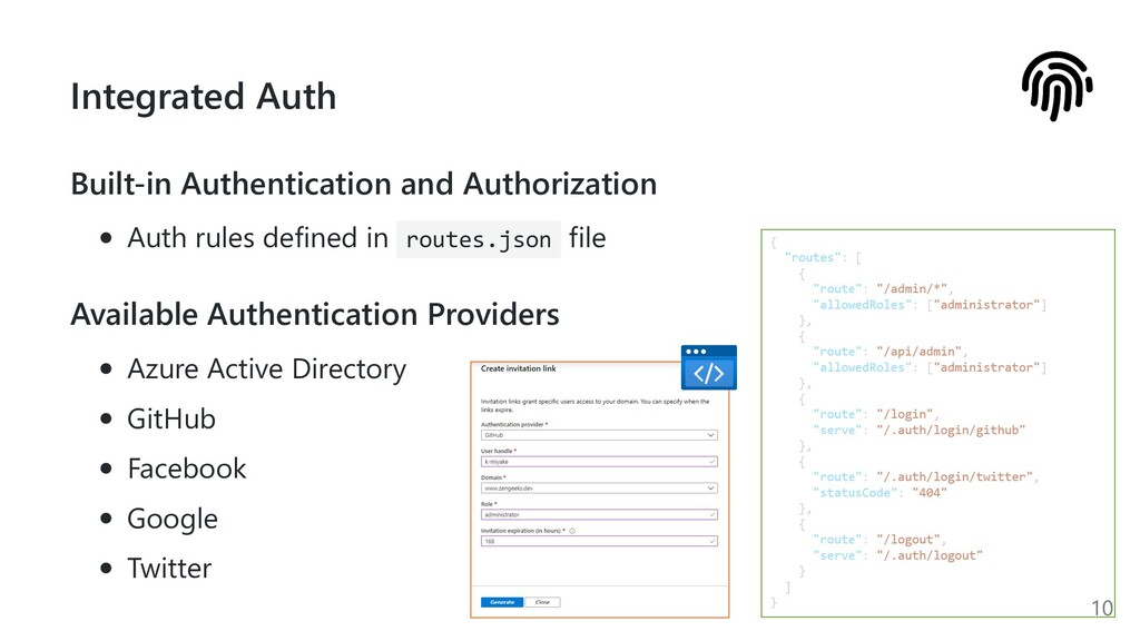 Integrated Auth Built-in Authentication and Aut...