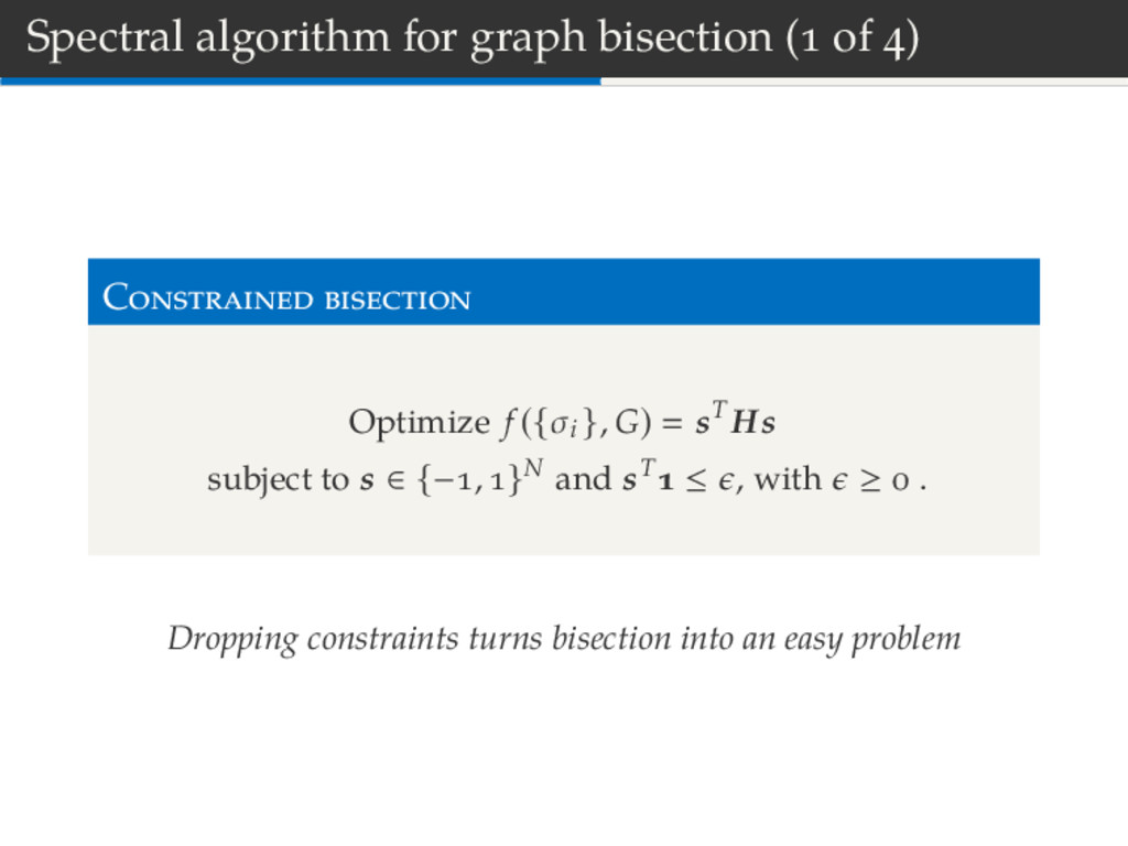 Spectral algorithm for graph bisection ( of ) C...