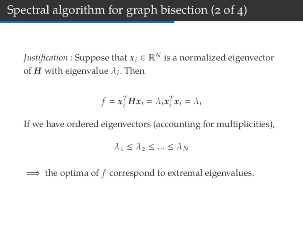 Spectral algorithm for graph bisection ( of ) J...