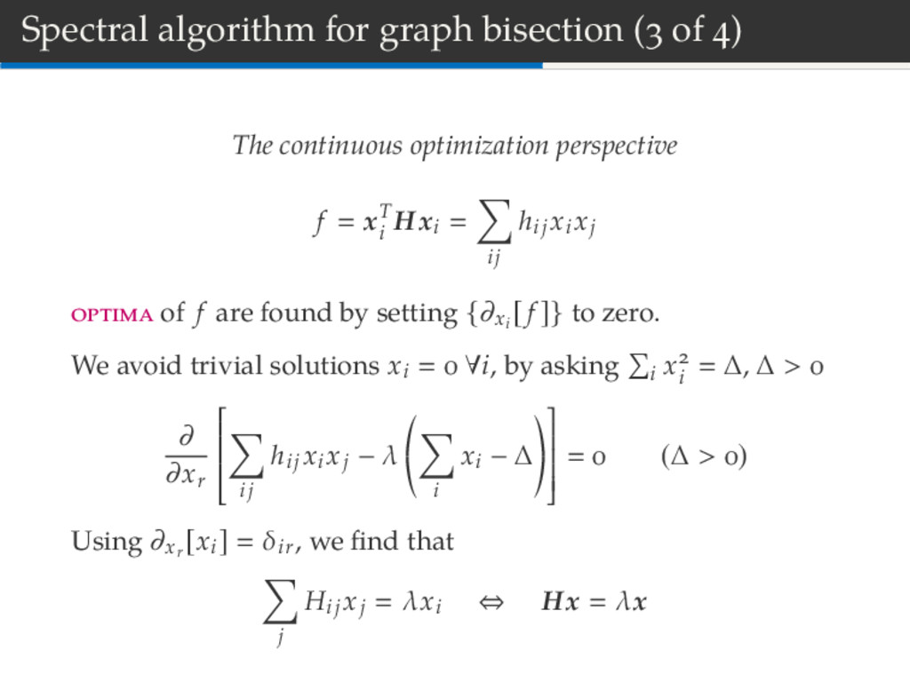 Spectral algorithm for graph bisection ( of ) T...