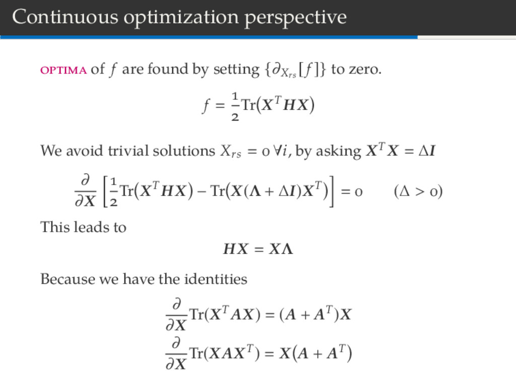 Continuous optimization perspective of f are fo...