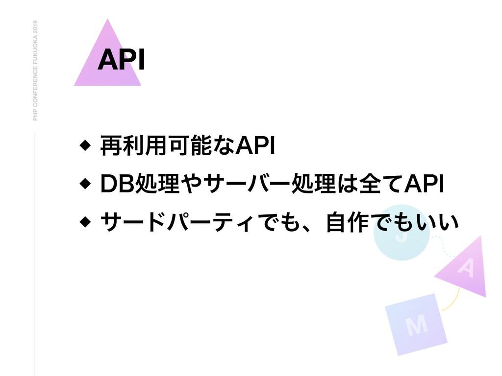 """A API ࠶ར༻Մͳ""""1* %#ॲཧαʔόʔॲཧશͯ""""1* αʔυύʔςΟͰ..."""