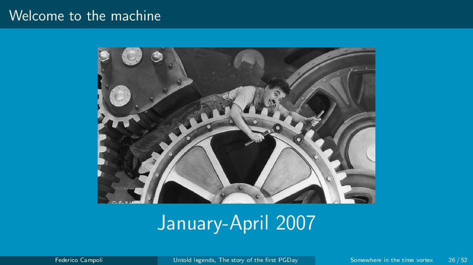 Welcome to the machine January-April 2007 Feder...
