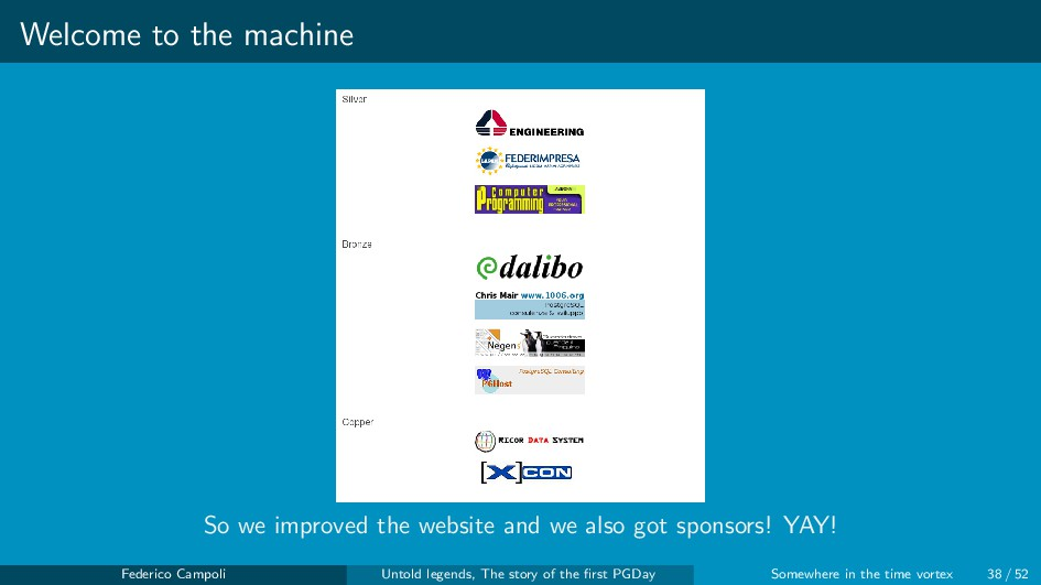 Welcome to the machine So we improved the websi...