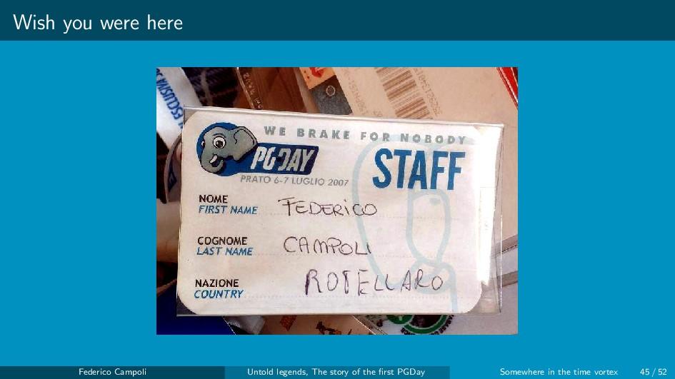 Wish you were here Federico Campoli Untold lege...