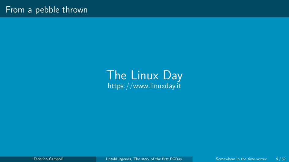 From a pebble thrown The Linux Day https://www....