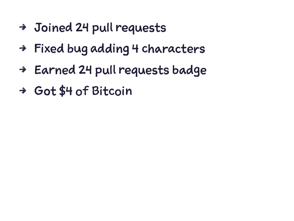 4 Joined 24 pull requests 4 Fixed bug adding 4 ...