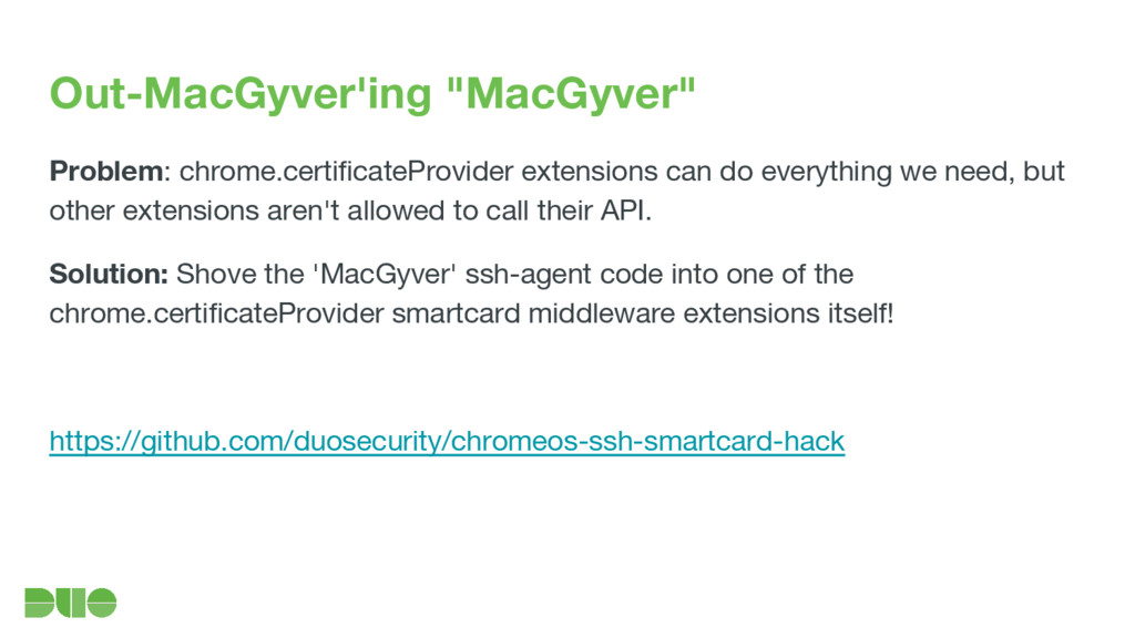 "Out-MacGyver'ing ""MacGyver"" Problem: chrome.cer..."