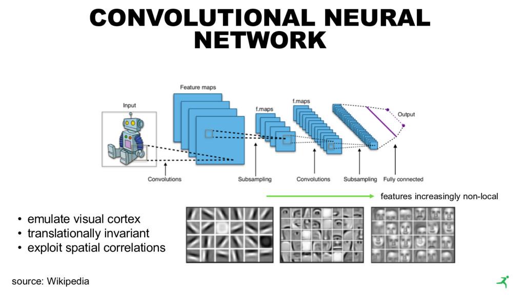 CONVOLUTIONAL NEURAL NETWORK • emulate visual c...