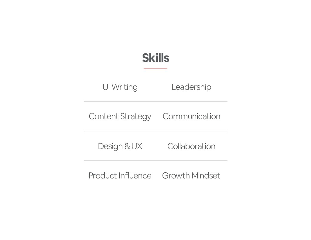 Skills UI Writing Leadership Content Strategy C...