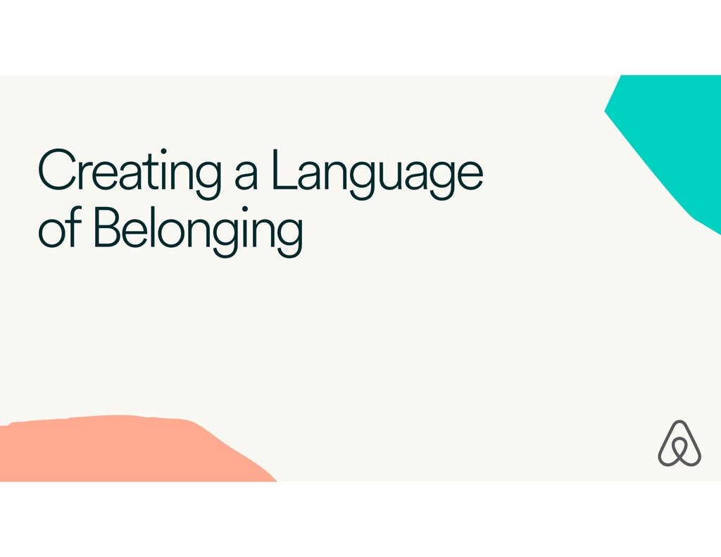 Creating a Language of Belonging