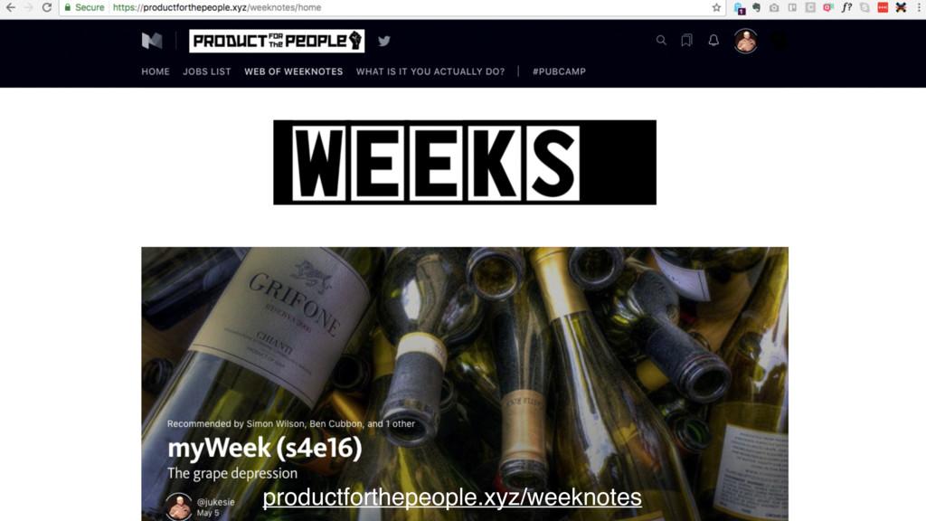 productforthepeople.xyz/weeknotes