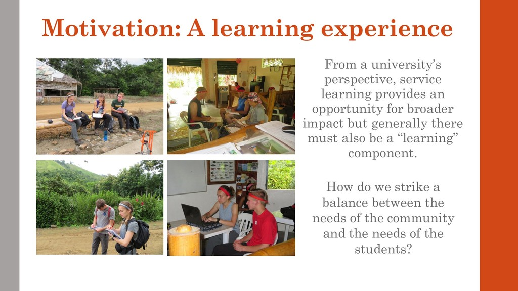Motivation: A learning experience From a univer...