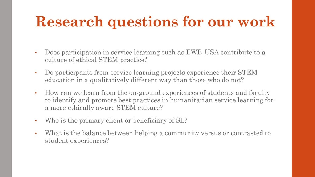 Research questions for our work • Does particip...