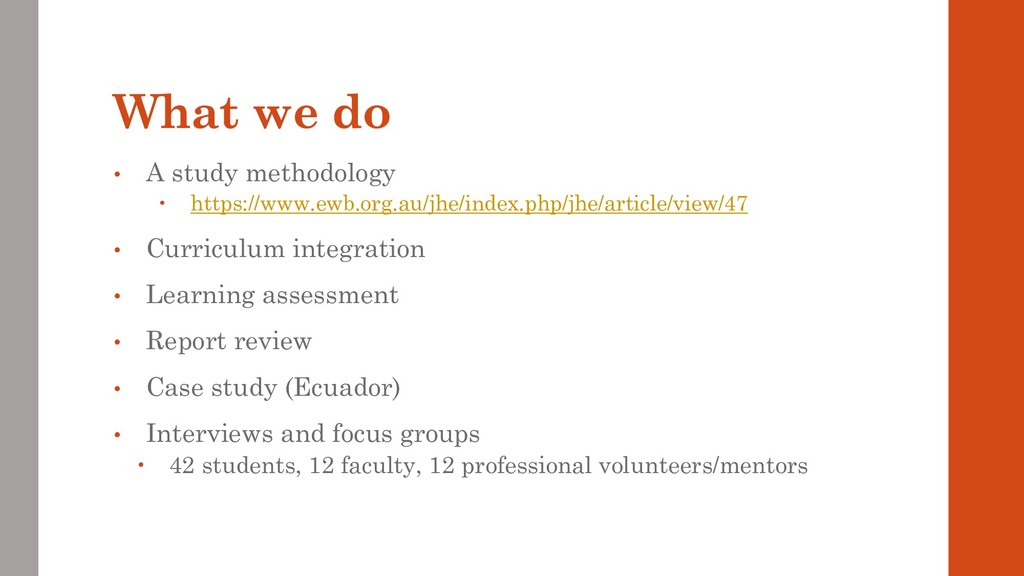 What we do • A study methodology  https://www....