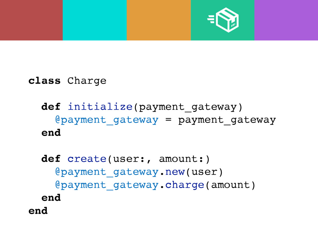 class Charge def initialize(payment_gateway) @p...