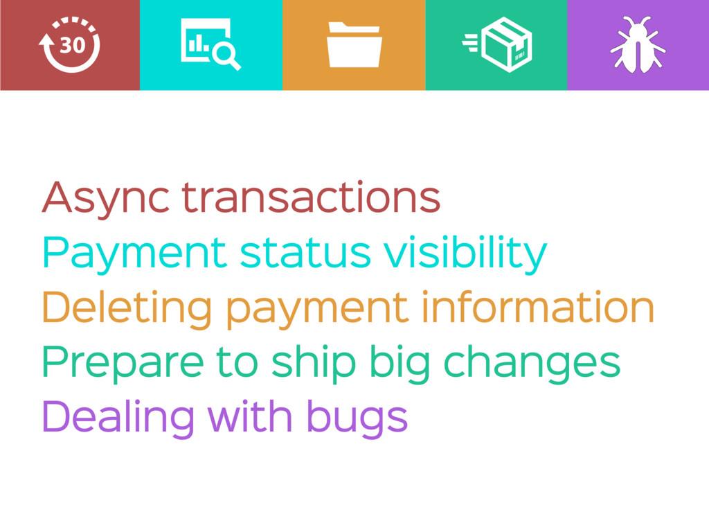Async transactions Payment status visibility De...