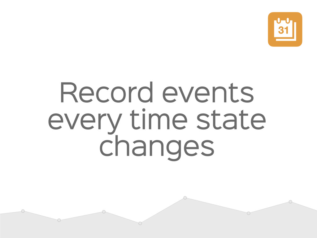 Record events every time state changes