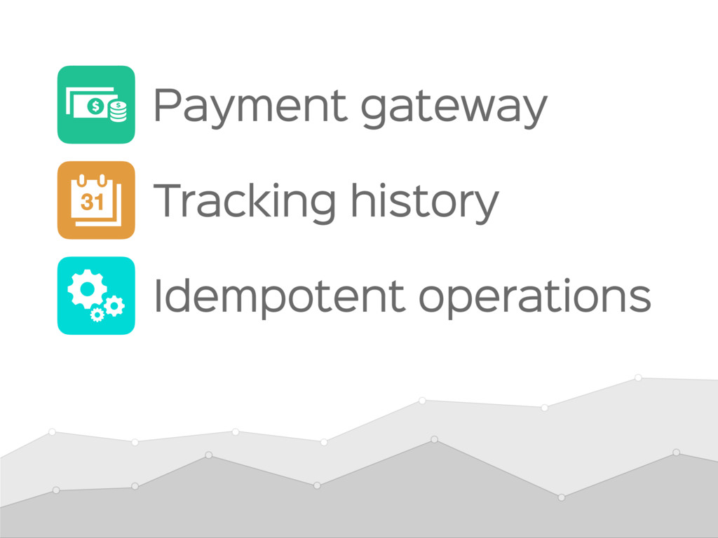 Idempotent operations Payment gateway Tracking ...