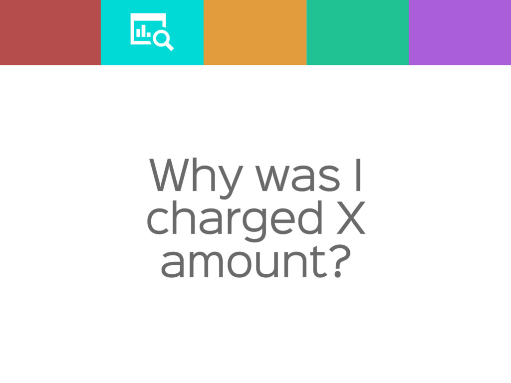 Why was I charged X amount?
