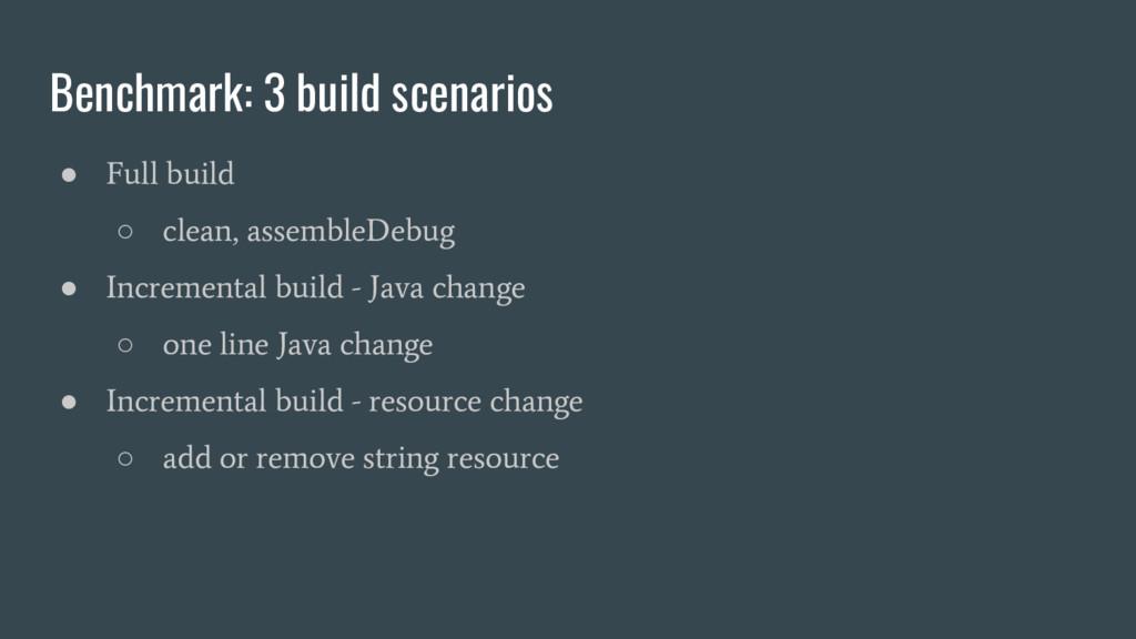 ● Full build ○ clean, assembleDebug ● Increment...