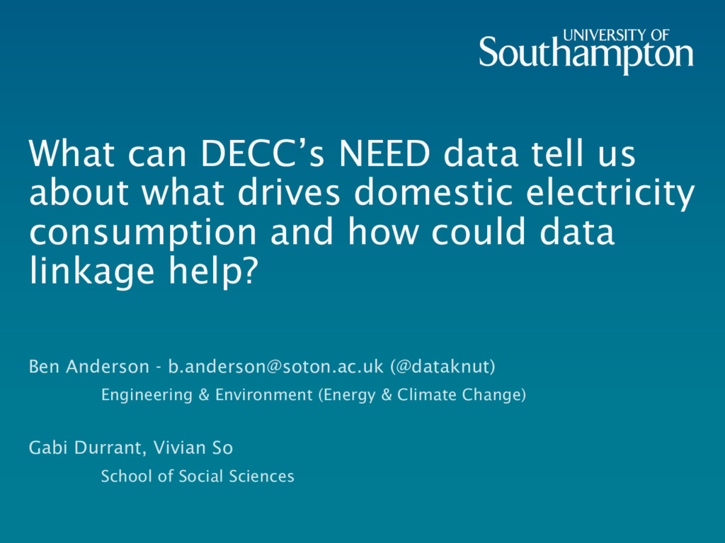 What can DECC's NEED data tell us about what dr...