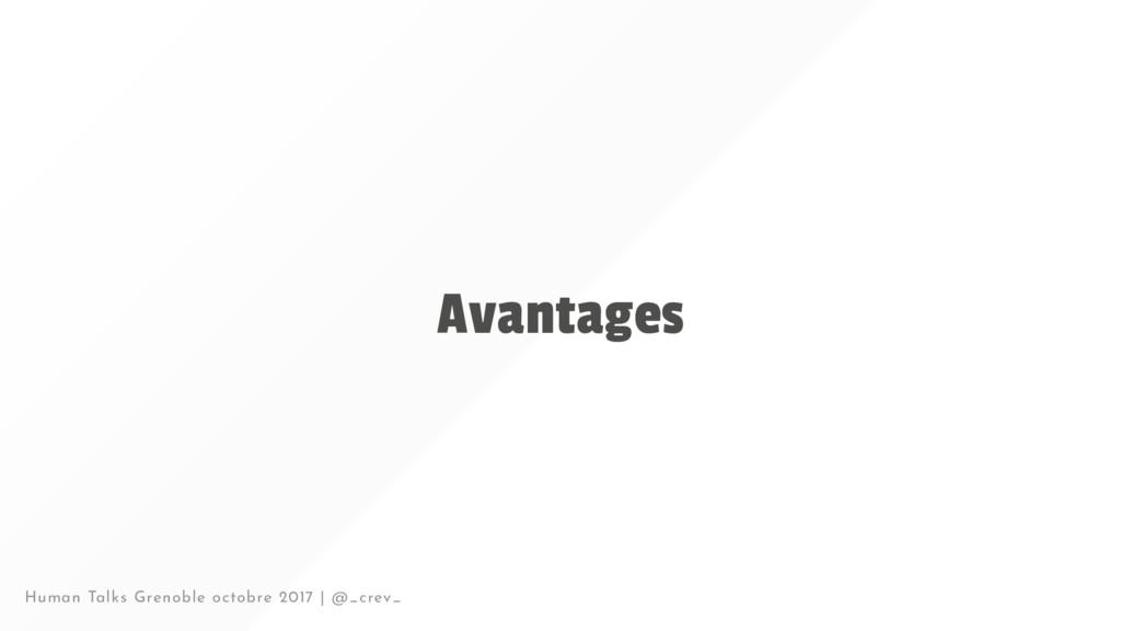 Avantages Human Talks Grenoble octobre 2017 | @...