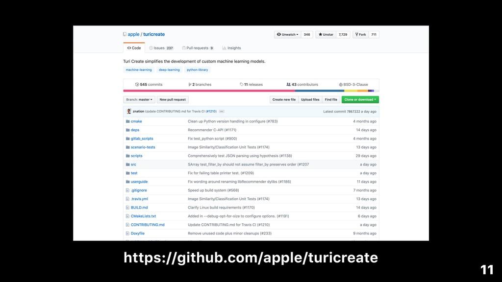 https://github.com/apple/turicreate 11