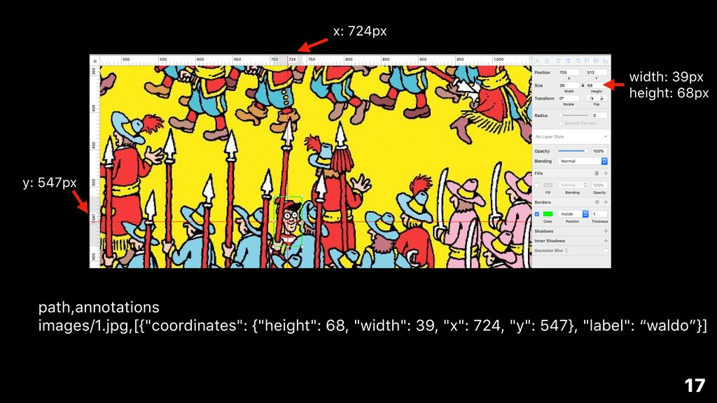 "path,annotations images/1.jpg,[{""coordinates"": ..."