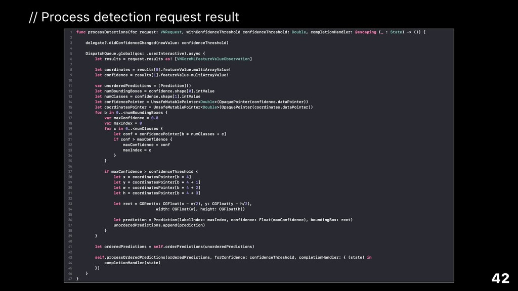 42 // Process detection request result
