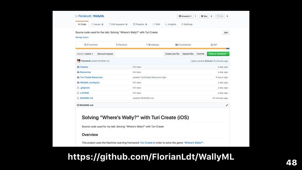 48 https://github.com/FlorianLdt/WallyML
