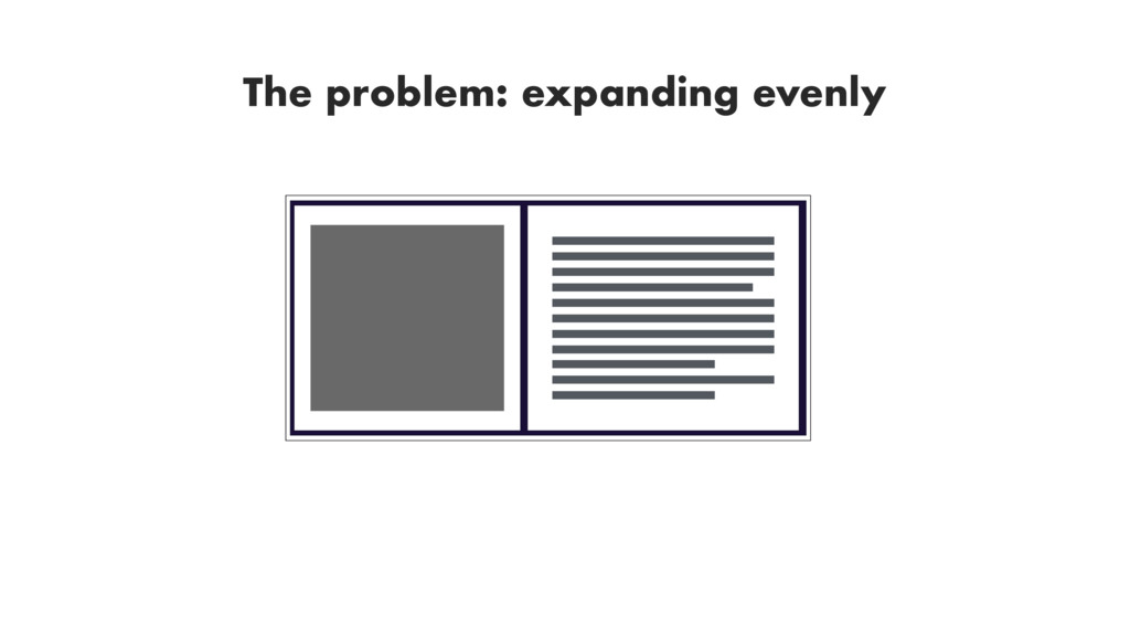 The problem: expanding evenly