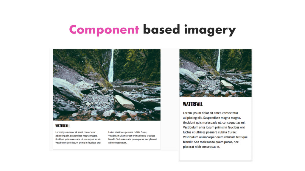 Component based imagery