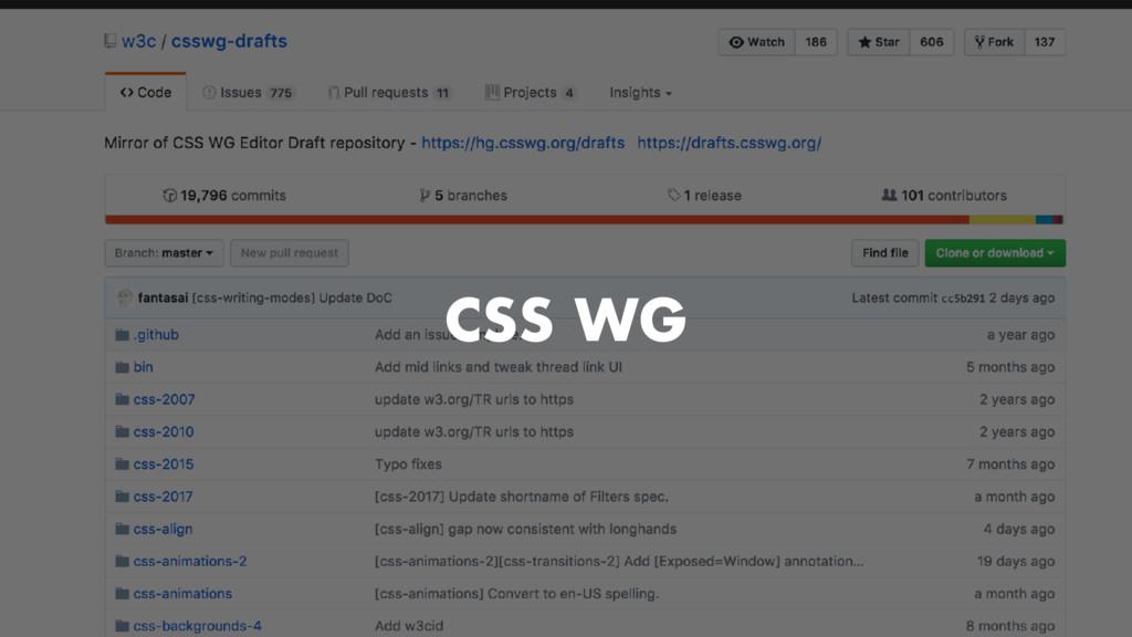 CSS WG