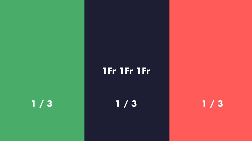 1Fr 1Fr 1Fr 1 / 3 1 / 2 1 / 3 1 / 3