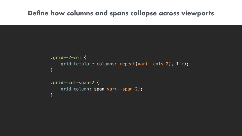 Define how columns and spans collapse across vie...